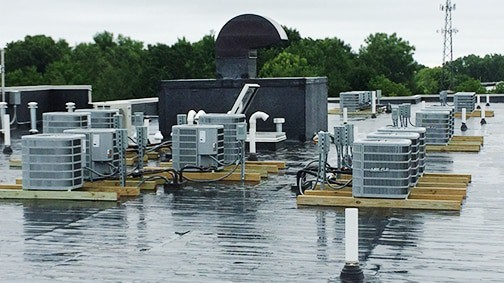 Robinson Heating & Cooling Dorm Roof