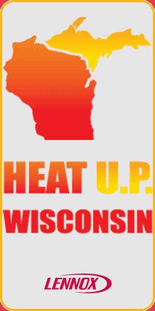 Heat U.P. Wisconsin Lennox Logo